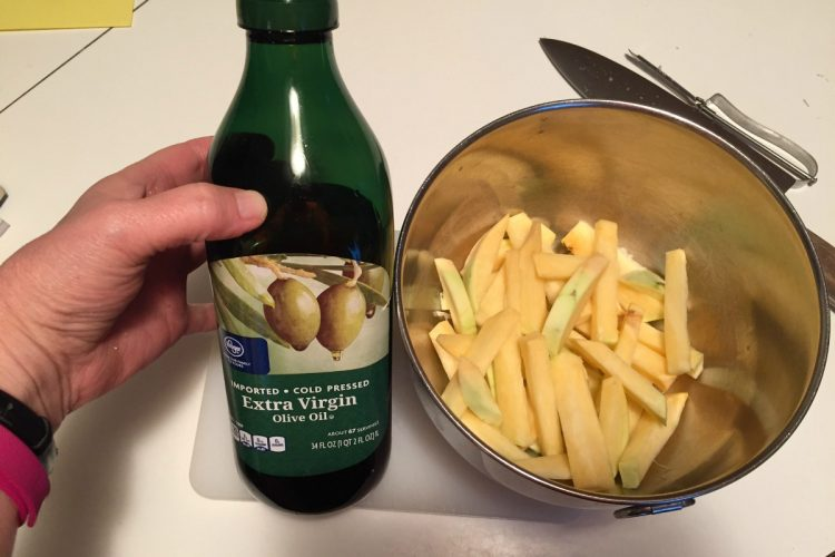 how to cut a rutabaga into fries