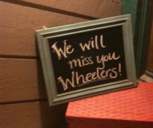 We will miss you Wheelers