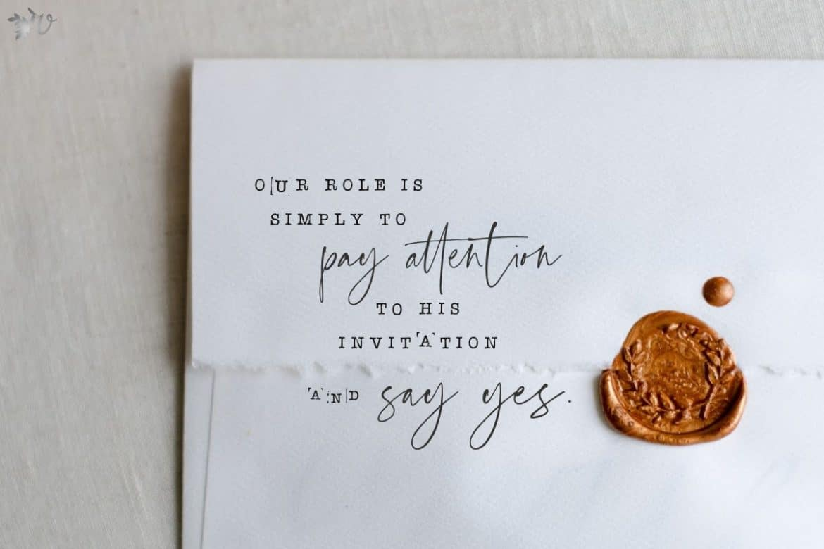 Why 'Invited'? And a Retreat Check-in